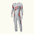 ONYONE[オンヨネ] Jr GS RACING SUIT(Not FIS) ONO79073 100055 ホワイトxレッド